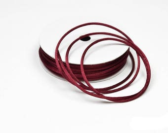 color BORDEAUX dark 2 mm thick Rattail coil 10 m