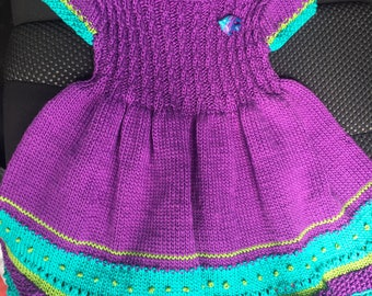 Knitted Toddler Dress