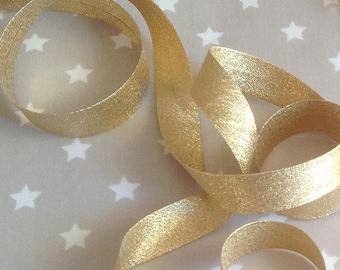 Golden bias pré-plie Lurex gold