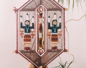 Vintage native American fiber art