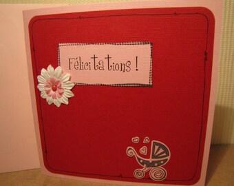 """Birth card """"Melina"""" paper"""