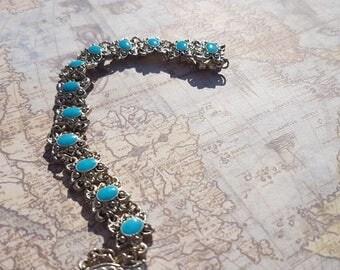 Stunning Vintage 1990's Inca Style Bracelet