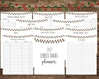 printable Christmas planner, Christmas planner, holiday kit, Christmas kit, holiday planner, Christmas printable, holiday printable