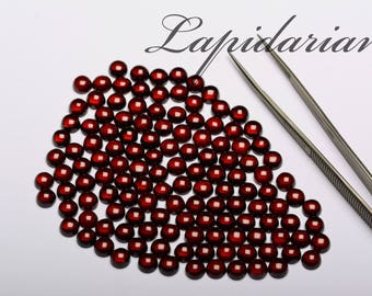 Red Garnet Cabochons 6mm rounds 1st quality