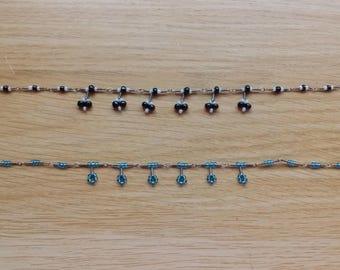 Dangle bead anklet/bracet