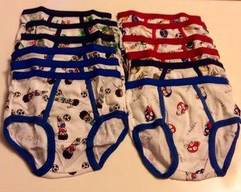 12 Boy's underwear Briefs  - 5T FREE SHIPPING :)
