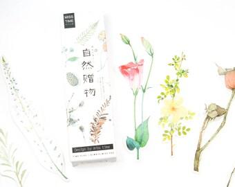 Bookmark flowers 30 pieces