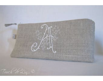 CUSTOMIZATION in natural linen, original Embroidery Kit