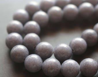 3 strands Mountain Jade Smooth Round Beads,Mountain Jade Beads, 15'' per strand 4mm 6mm 8mm 10mm 12mm