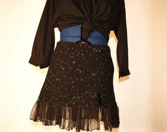 Mini small winter city split skirt size 38/40
