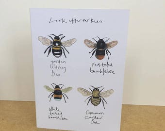 Look After Our Bees A4 Print