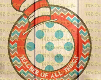 Teacher of all things - Oversize monogram frame - svg, eps, dxf, png