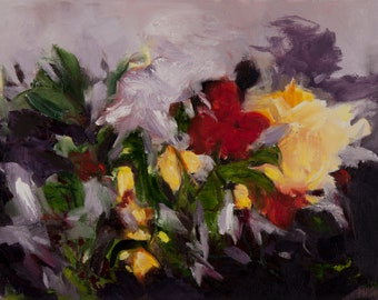 """1 oil painting """" Gardens Glory"""""""