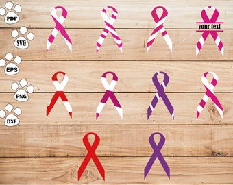 Awareness Ribbon SVG Files, Ribbon Awareness Cancer Disease Hospital Cause Clipart, cricut, cameo, silhouette cut files commercial use