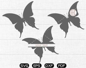 Butterfly Svg, Beautiful Butterfly Clipart, Monogram Frame cricut, cameo, silhouette cut files commercial & personal use