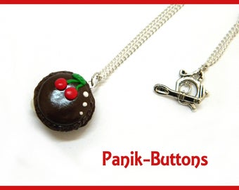 Cherry macaroon necklace