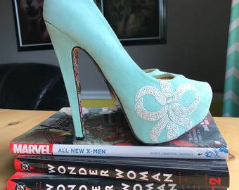 Tiffany blue heels etsy custom swarovski crystal heels tiffany blue something blue junglespirit Images