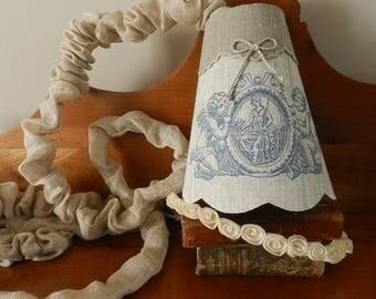 Wandering lamp of linen fabric
