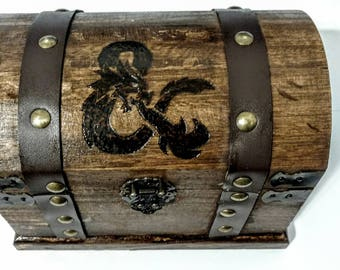 Dungeons & Dragons RPG Tabletop Mini Dice Chest Stash Box For Dice/Accessories | Dungeons and Dragons DnD Dice Mini Chest/Box | Dice Storage