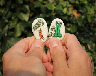 BOKEH Story Stones- Junior Collection - 12 illustrated stones with a beautiful, handmade, drawstring bag