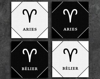 70% OFF 2 french Aries zodiac sign Astrology English instant download 5 X 5 8 X 8 10 X 10 12 X 12 15 X 15 16 X 16 18 X 18 20 X 20 30 X 30 50 X 50