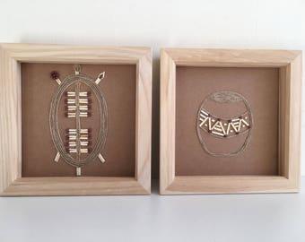 A set of 2 - African, Zulu Art