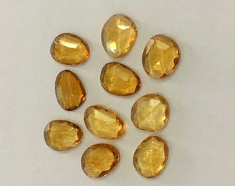 Citrine Natural Citrine Rose Cut Polki Both Side Faceted 9mm to 12mm (Approx) Price per 1 piece