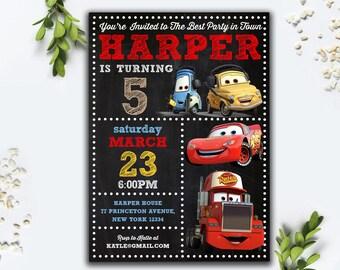 Editable PDF- Cars Birthday Invitation,Csrs Birthday Party, Cars Invitation, Cars Birthday Invite, Minion Instant Download Invite