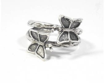 """Silver ring """"Medieval butterfly"""". *"""