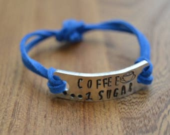 Coffee...  1 Sugar Bracelet