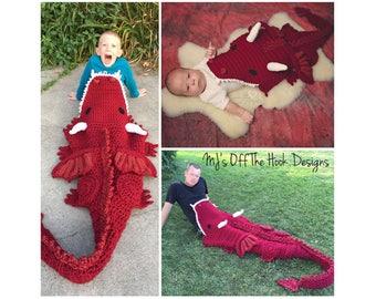 Dragon Blanket Crochet Pattern - Crochet Pattern for Dragon Blanket - Bulky & Quick Dragon Blanket Crochet PATTERN MJ's Off The Hook Design