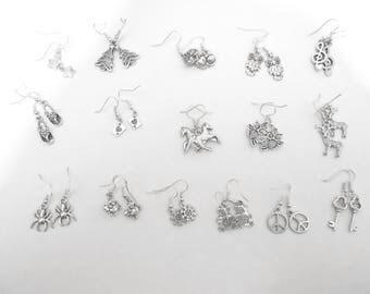 Earrings silver choice individually