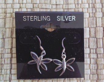 Sterling Silver Dragon Fly Earings