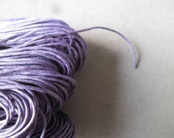 x 5 meters of waxed cotton cord 1 mm purple
