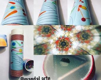 Handmade Kaleidoscope, mandala, 20 cm