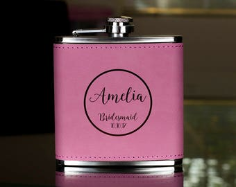 Personalized Flask, Bridesmaid Flask, Maid of Honor Flask, Gift for Bridesmaid, Gifts for Her, Birthday Gift,Bridesmaid Flask, Hip Flask
