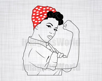 50s women  SVG, pin up svg,  EPS, DXF Vector files for use with Cricut or Silhouette Vinyl Cutting Machines