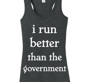Funny Government Tank, Workout Tank, Funny Workout Shirt, Gym Shirt, Running, Running Clothes, Workout Clothes, Ladies Tank, Exercise Shirt
