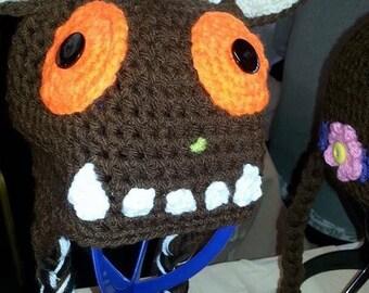 Crochet gruffalo inspired hat