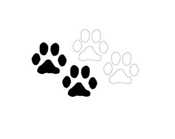 Puppy Paw Prints SVG Vector Download for Silhouette studio, Cricut, craft robo , SCAL, adobe illustrator.