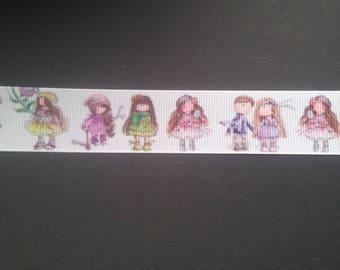 -Charming little girl - Grosgrain Ribbon 25mm