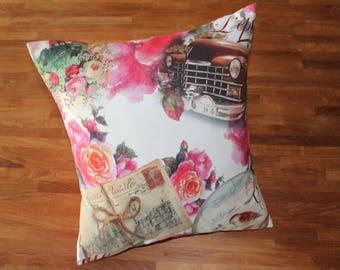 Cushion 45x45cm in cotton canvas
