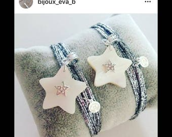 Bracelet star mother of Pearl