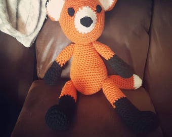 Crochet Stuffed Fox