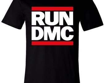 Old School Hip Hop Rap Shirt of Run DMC Small to XXL