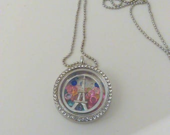 Floating charm with locket