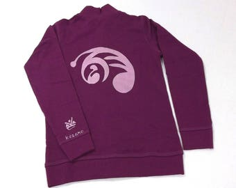 Purple girl sweatshirt with bird