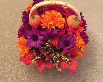 Halloween decor, Halloween centerpiece, floral arrangement