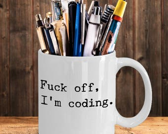 Funny Computer Coding 11oz Ceramic White Coffee Mug – Office Gift for Coders Designers Programmer HTML Computer Science Geek