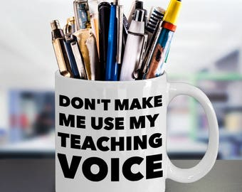 Funny Teaching Lecturing Coffee Mug - 11oz White Ceramic Tea Cup - Funny Humor Gift Ideas - School Teachers, College University Professors